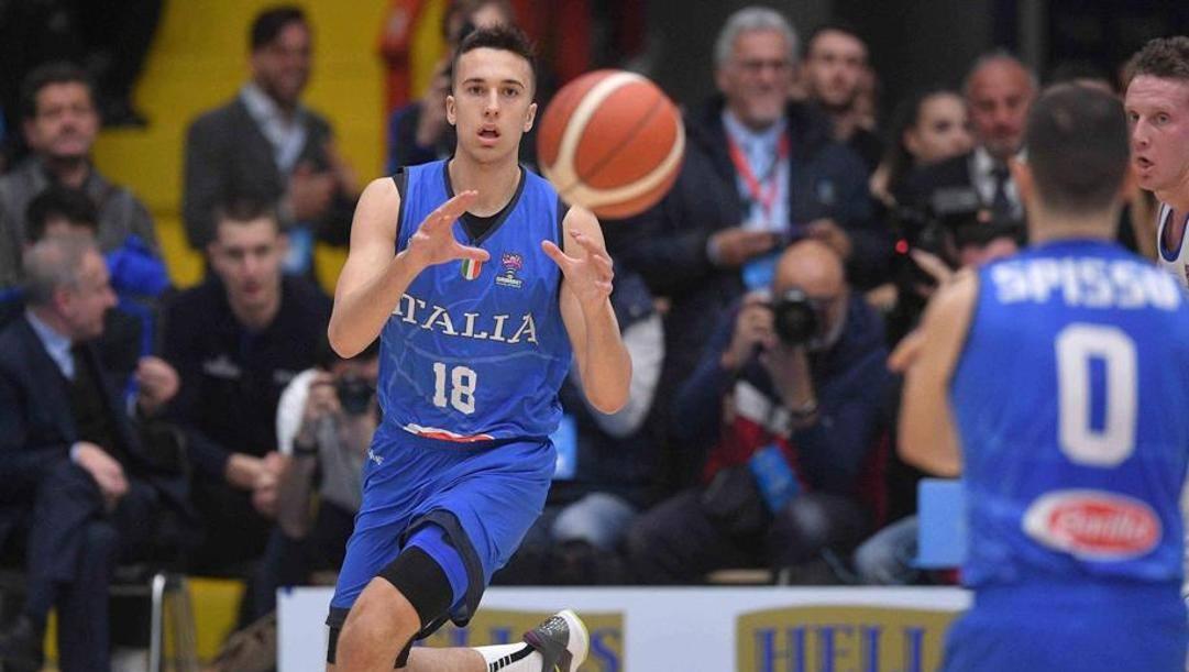 Matteo Spagnolo, 17 anni, al debutto in Nazionale. Ciam/Cast